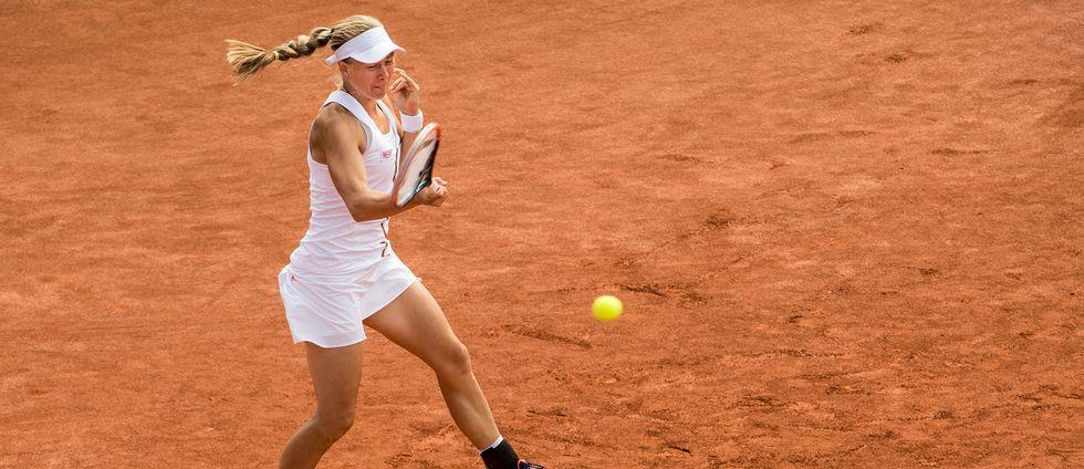 Johanna Larsson är vidare i WTA-turneringen i Gstaad. (Arkivbild)
