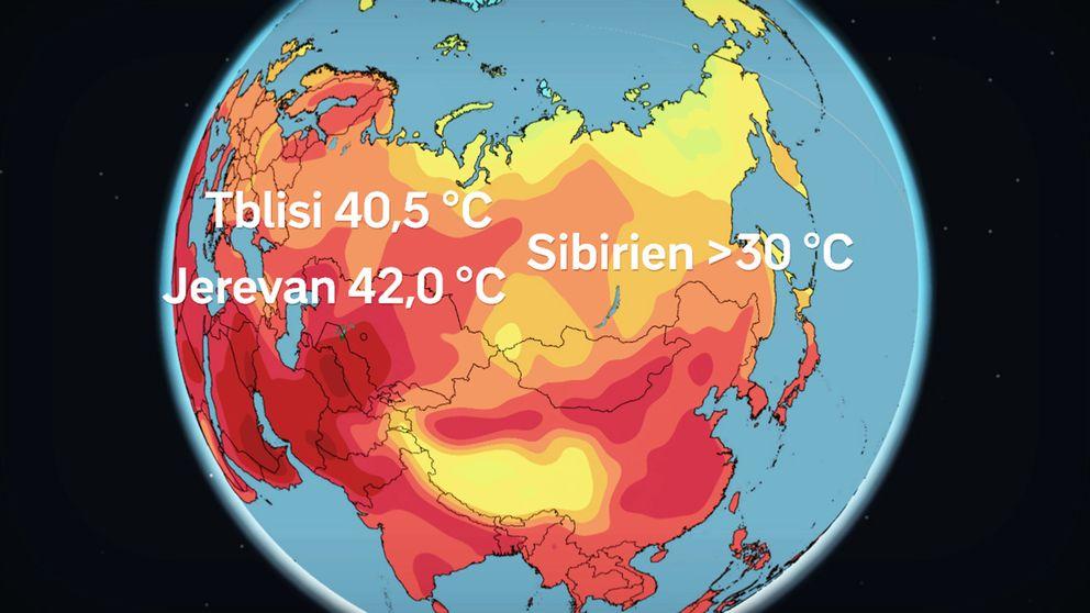 I delar av norra Sibirien var temperaturerna ovanligt höga under juni månad, enligt WMO, den meteorologiska världsorganisationen. I Tblisi i Georgien uppmättes nytt värmerekord, även i Jerevan i Armenien.