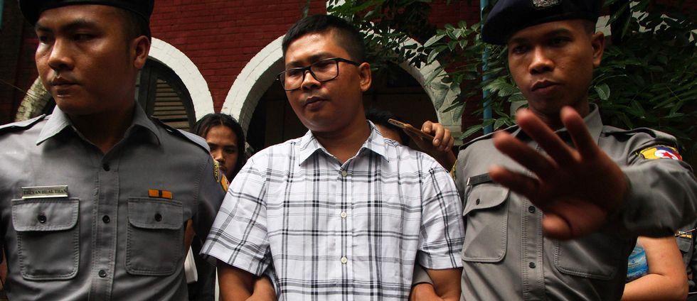 Wa Lone är en av de två reportrar som står inför rätta i Myanmar. De greps när de undersökte ett massmord på män och pojkar från folkgruppen rohingya.