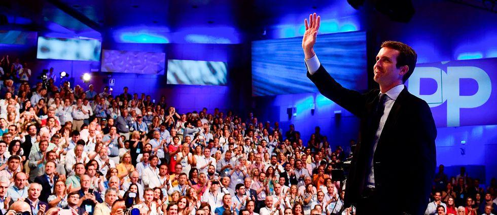 Spanska Partido Populars nya partiledare Pablo Casado.