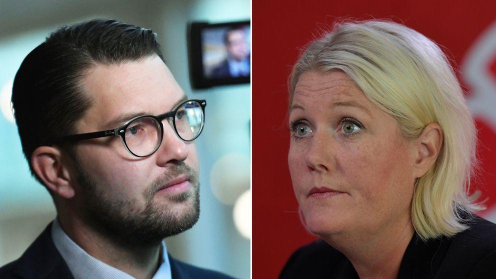 Jimmie Åkesson och Lena Rådström Baastad