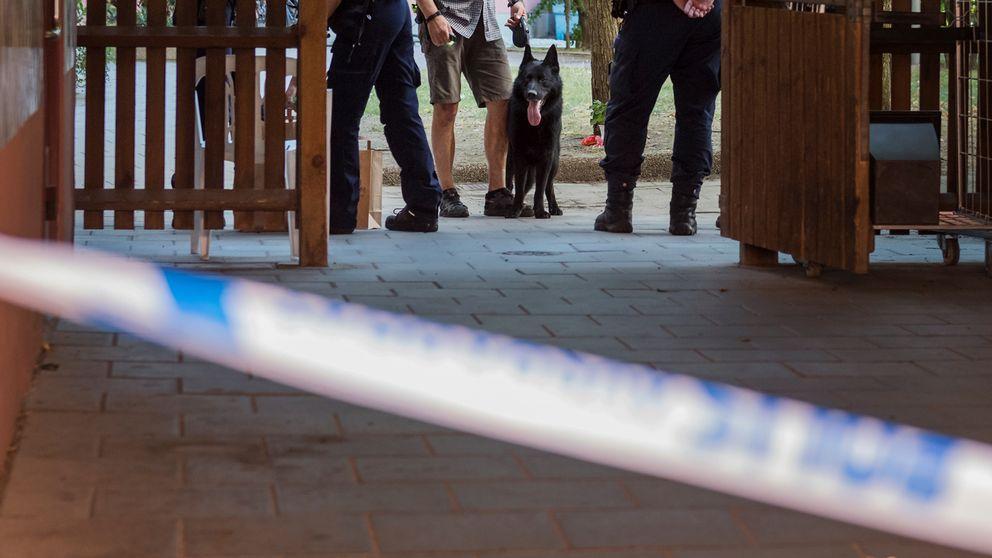 Ljus fran lasersikte mot polis