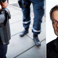 Blinkande foremal i johanneshov undersoks av polis