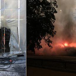 Mopedungdomar kan ligga bakom brandattentat mot moske