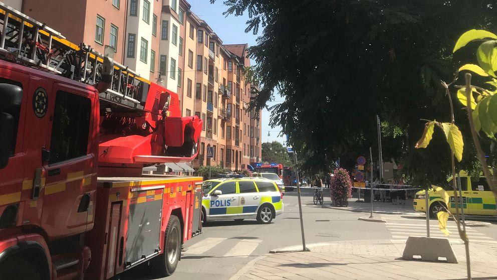 Biljakt i vastra stockholm skot mellan varandra