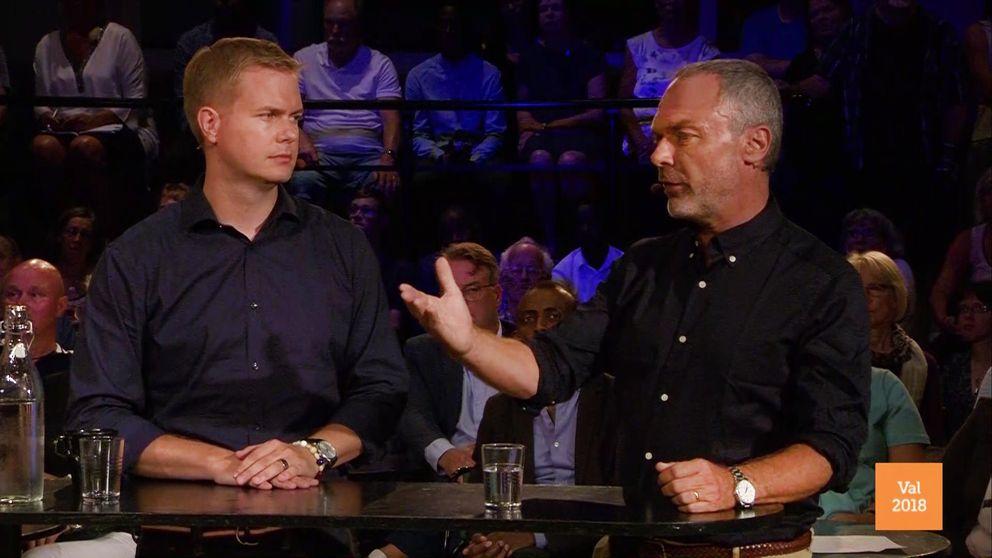 Gustav Fridolin (MP) och Jan Björklund (L).