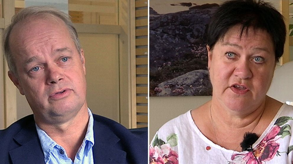 Hans Forsberg (M) är kommunstyrelsens ordförande och Eva Borg (S) är kommunalråd Kungsbacka kommun.