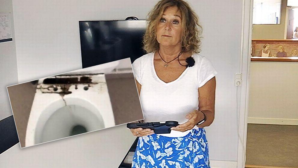 Beklagansvärt, säger verksamhetschefen Helené Ljungqvist efter att ha sett filmen från servicelägenheten i Kungsbacka där hemtjänsten haft städningen i fyra år.