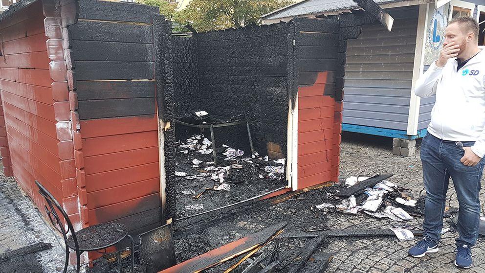 Linköping valstuga brand sverigedemokraterna