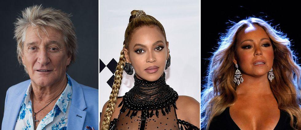 Rod Stewart, Beyoncé och Mariah Carey riktar lyckönskningar till Aretha Franklin, som vårdas i sitt hem i Detroit.