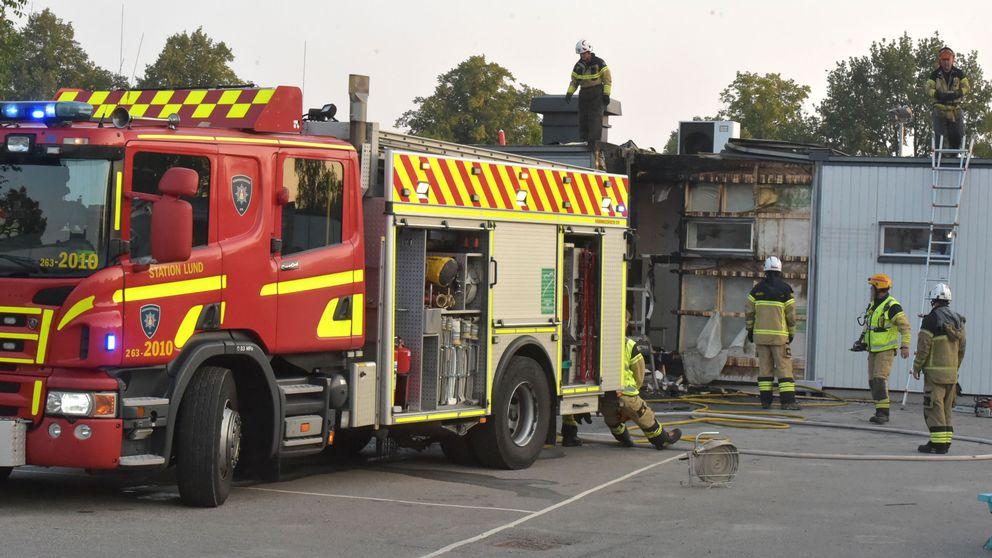 Räddningstjänsten släckte en brand vid Lerbäckskolan i Lund.