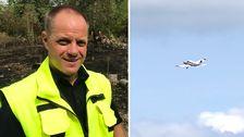 Räddningschefen Magnus Åman i Hylte kommun hyllar brandflygets insats.