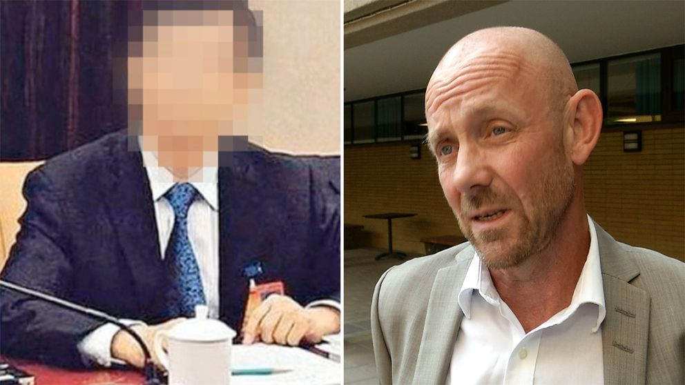 Ett blurrat foto på kinesen och Leif Görts kammaråklagare vid Riksenheten mot korruption