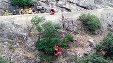 Räddningsmanskap i Raganelloravinen i södra Italien.