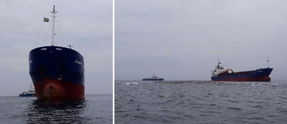 Fartyget gick på grund strax söder om Oskarshamn