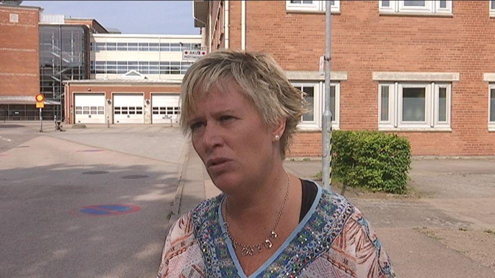 Ordförande i driftnämnden för Hallands sjukhus Mikaela Waltersson (M).