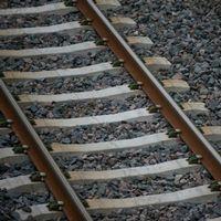 järnvägsspår, skugga, tågräls