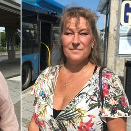 Kommunalrådet Eva Borg (S) och förstanamnet Lisa Andersson (M) i Kungsbacka.