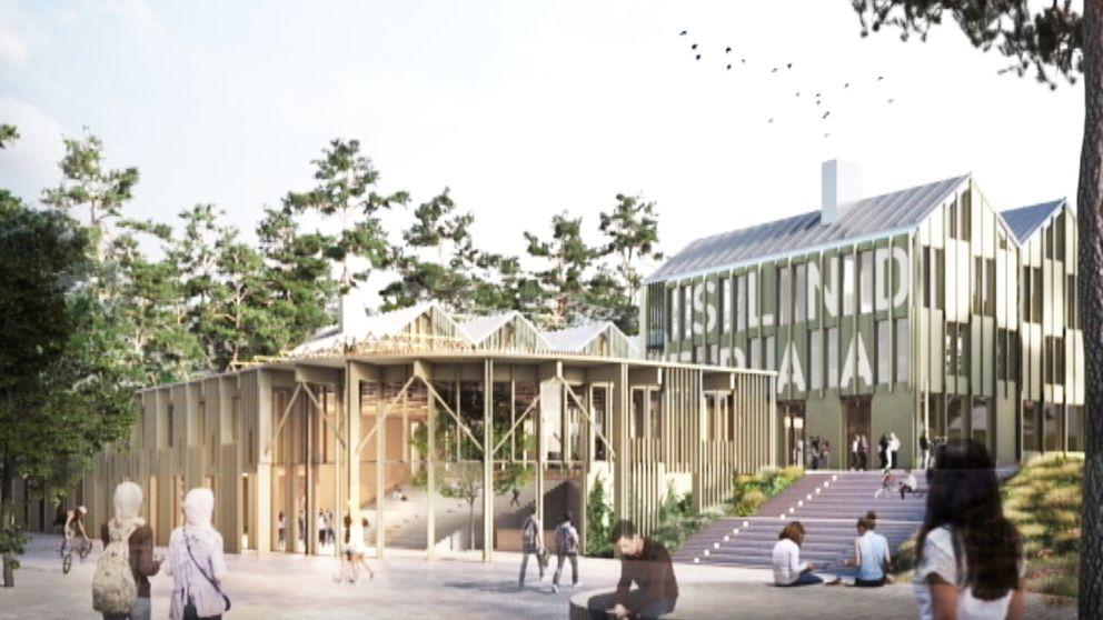 En arkitektbyrå har tagit fram en vision för hur den nya skolan skulle kunna se ut, sedan har detaljplanen anpassats efter en del av de åsikter som kommit in