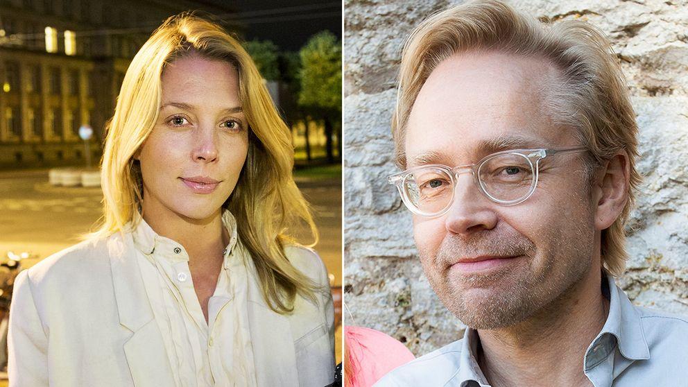 Delad bild, först: Annie Reuterskiöld, politisk reporter, Svenska Dagbladet, sedan en bild på Fredrik Furtenbach, politisk kommentator Sveriges Radio Ekot.