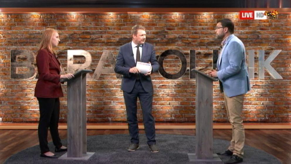 Annie Lööf och Jimmie Åkesson möttes i en extrainsatt debatt ledd av Expressens Niklas Svensson.