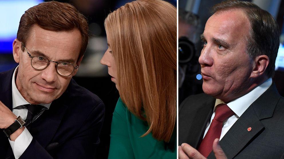 Ulf Kristersson (M), Annie Lööf (C) och Stefan Löfven (S) blir huvudpersoner i det dramatiska efterspel som nu följer efter valet