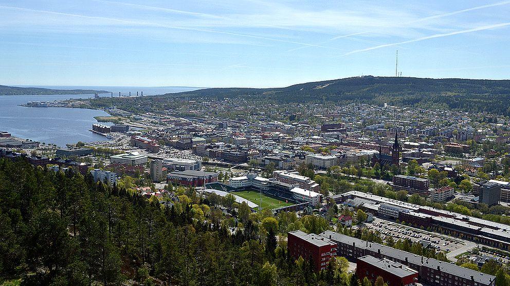 Vy över Sundsvall