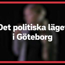 """En bild med en röd ruta där det står """"Det politiska läget i Göteborg efter valet""""."""