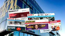 Reklam från spelbolag som saknar tillstånd i Sverige på flera svenska nyhetssajter – bland annat Aftonbladet och Expressen.