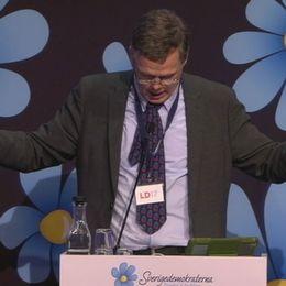 Det var under en livesänd partikongress i SVT Forum som Strids kommentar om muslimer fälldes.