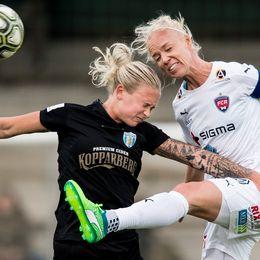 Göteborgs Filippa Curmark och Rosengårds Caroline Seger.