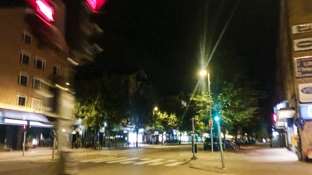 Centrala Gävle nattetid.