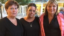 Anna Fyhr, Eva Fyhr och Anita Engberg Onesti i Oxie.
