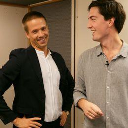 SVT:s meteorolog Nils Holmqvist och reporter Torbjörn Averås Skorup.