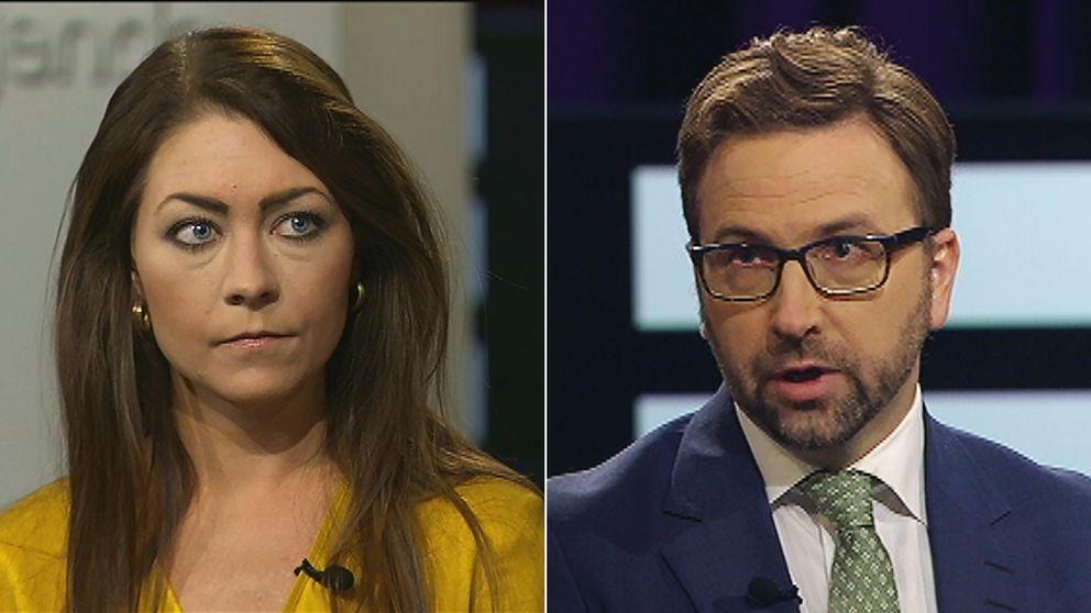 Maria Ferm (MP) och Fredrik Malm (L)