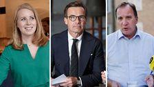 Annie Lööf (C), Ulf Kristersson (M) och Stefan Löfven (S) är kandidater till statsministerposten.