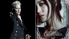 Trollkarlen Gellert Grindelwald spelas av Johnny Depp, och Nagini av Claudia Kim.