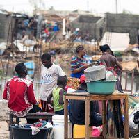 Området kring staden Beira har drabbats hårt av cyklonen Idai.