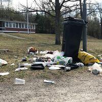 På påskdagen möttes besökare på Björnön i Västerås av överfulla soptunnor och utspritt skräp. Enligt Västerås stad har deras entreprenör varit på plats och både tömt papperskorgar och städat under helgen. De konstaterar att nedskräpning är ett växande problem.
