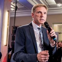 Dansk Folkepartis partilordförande Kristian Thulesen Dahl och Sverigedemokraternas partiledare Jimmie Åkesson.