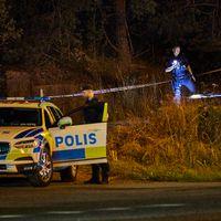 Polisen vid en avspärrning