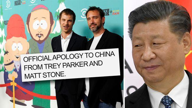 trey parker apology to china