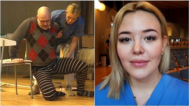 Julia tävlar i vård och omsorg
