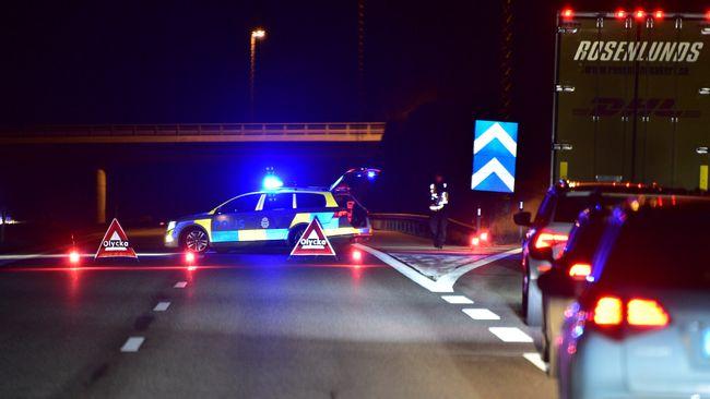 Älgar på E4 orsakade olycka – totaltstopp i trafiken