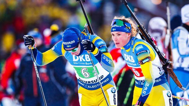Öberg och Samuelsson kör singelmixedstafetten