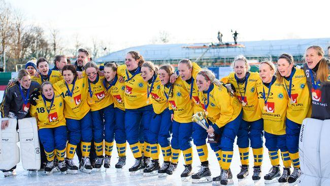 VM-guld för svenska bandydamerna