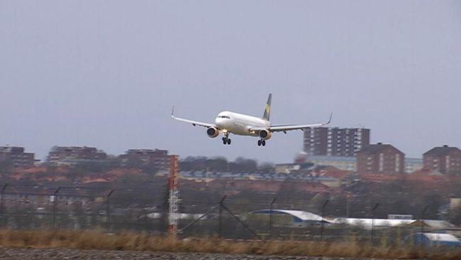 Teneriffa-flyget har landat i Norrköping