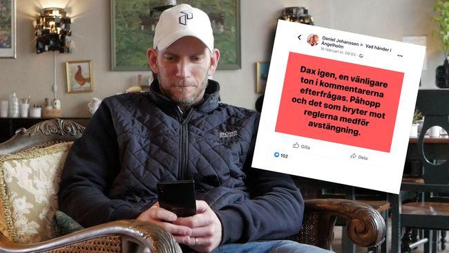 Daniel lägger timmar varje dag på att kontrollera Facebook-gruppen