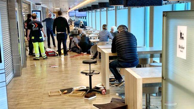 Hårt väder orsakade kaos på Gotlandsfärjan