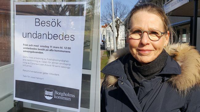 Borgholm vill stoppa besök på äldreboenden